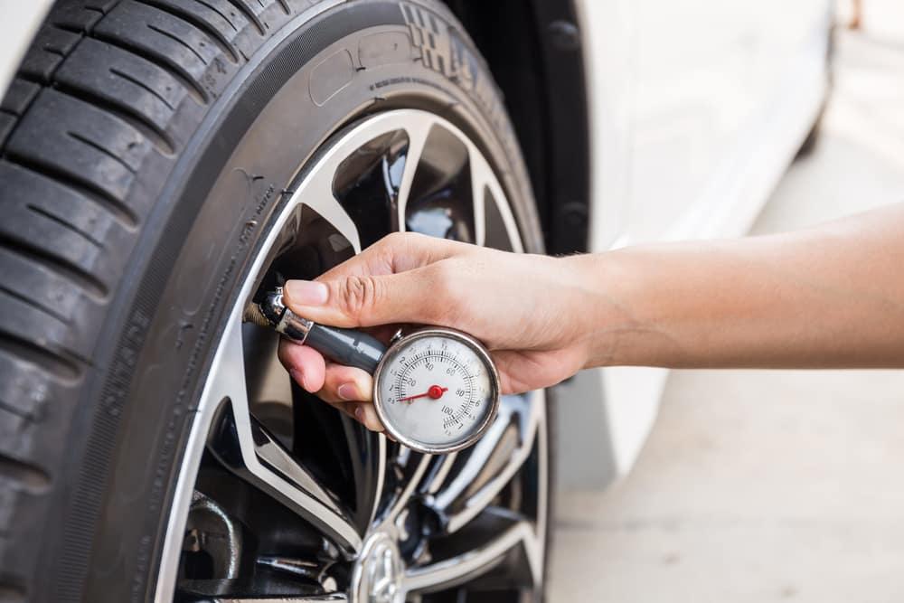 Examining tire pressure